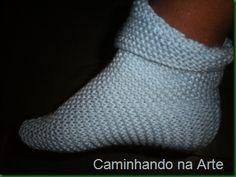 Receita do Sapato de Tricô