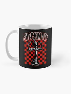 """Checkmate Black King Chess Player Grandmaster Winner Red"" Mug by GrandeDuc 