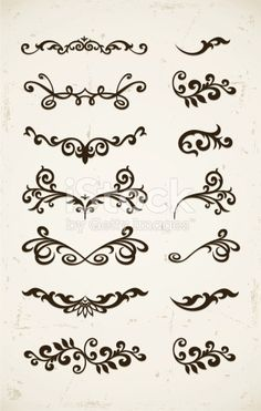 Illustration about Set of vintage decorative patterns on grunge backgound. Illustration of decor, monogram, contour - 17702333 Henna Mehndi, Henna Tattoos, Arte Mehendi, Henna Tattoo Muster, Mehndi Designs, Mehndi Patterns, Henna Tattoo Designs, Simple Henna Patterns, Paisley Doodle