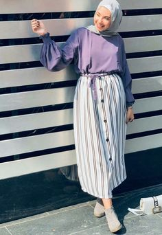 Hijab Dress Party, Hijab Style Dress, Modest Fashion Hijab, Modern Hijab Fashion, Casual Hijab Outfit, Hijab Fashion Inspiration, Skirt Fashion, Fashion Outfits, Fashion Fashion