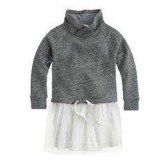 Girls' sweatshirt tulle dress : everyday dresses   J.Crew