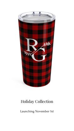 Buffalo Plaid Tumbler - Ricki Grace Co - Buffalo Plaid Tumbler New to our holiday collection. Purple Kitchen Walls, Kitchen Island Bar, Kitchen Area Rugs, Wine Wall Art, Coffee Reading, Play Kitchen Sets, Grace And Co, Dining Room Wall Art, Home Coffee Stations