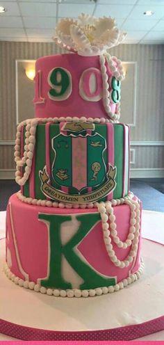 Bday cake Aka Sorority, Alpha Kappa Alpha Sorority, Sorority Life, Pretty Girl Rock, Pretty In Pink, Divine Nine, Founders Day, Sigma Gamma Rho, Everything Pink