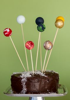planet cake toppers and a milky way cake http://asubtlerevelry.com/planet-cake-toppers-and-a-milky-way-cake/