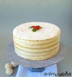 Lemon White Cake (a traditional recipe) - simonacallas Romanian Desserts, Romanian Food, Tall Cakes, Dark Chocolate Cakes, Take The Cake, Cake Flour, Cake Mold, Serving Plates
