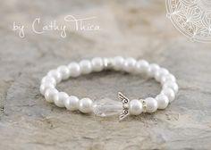 Armbänder - ॐ Schutzengel ॐ Perlen Armband 8mm - ein Designerstück von Cathy-Thica-Namaste bei DaWanda