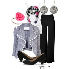 """""""Teacher: Grey & Pink"""" by taytay-268 on Polyvore"""