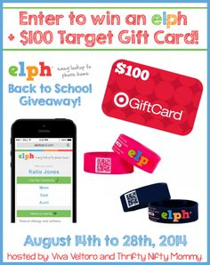 You've got to check out the ELPH wristband - this safety ID band is perfect for back to school and vacations!  PLUS, enter to win one and a $100 Target Gift Card!