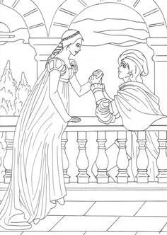 Click Romeo and Juliet in the Garden Coloring page for printable ...