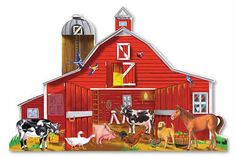Farm Friends Floor Puzzle   Melissa and Doug Toys