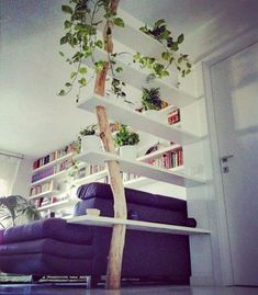 """1,319 Likes, 19 Comments - Best Crafters (@best_crafters) on Instagram: """"By Ötlet Sziget Kreativ  Shelves holding thanks to a big tree branch  DM us for a paid feature!…"""""""