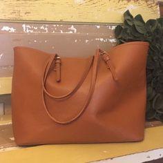 Tan Tote Tan tote bag with minor flaws shown in pics! Bags Totes