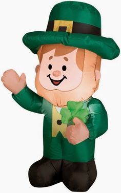 3 Foot Airblown St. Patrick's Day Leprechaun Inflatable - The Luck of The Irish St Patrick's Day #Giveaway