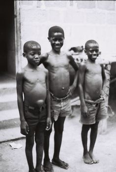 Young men of the village, standing proud. Circa 1978.