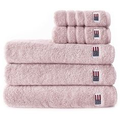 Lexington Original Towel - Light Rose 50x100 ($33) ❤ liked on Polyvore featuring home, bed & bath, bath, bath towels, pink, pink bath towels, rose bath towels, stripe bath towels and striped bath towels