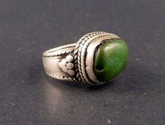 Tibetan old silver ring with a tibetan от ethnicadornment на Etsy