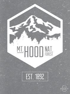 Outline of mt hood clipart