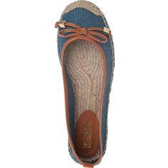 MICHAEL MICHAEL KORS Meg Flat Espadrille Blue Denim ($52) ? liked on  Polyvore