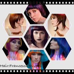 This is a collage of hair colour placement enhancing the couture shape!