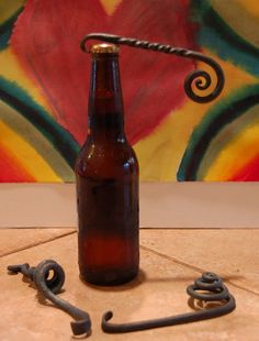 Hand forged bottle opener church key by MilwaukeeBlacksmith, $15.00