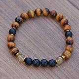Men's Tiger's Eye Healing Fertility Chakra Bracelet