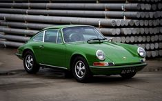 Classic, Porsche 911, sports car, green