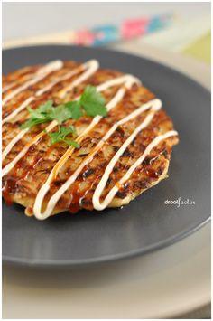 Okonomiyaki is a savoury Japanese pancake. A traditional Osaka style okonomiyaki is usually made with flour, grated yam, dashi, eggs and cabbage and the toppings usually include meat (usually pork ...