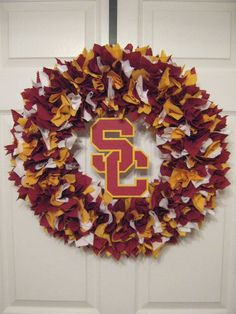 "18"" University of Southern California Fabric Wreath"