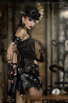 Model : Flexdreams /Photographer/After Effects : Dannis Yeh (100) Steampunk Tendencies