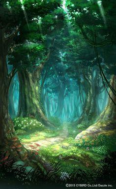 Fantasy Art Landscapes, Fantasy Artwork, Landscape Art, Beautiful Landscapes, Landscape Paintings, Fantasy Forest, Forest Art, Magical Forest, Forest Drawing