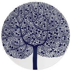 Peter's of Kensington | Royal Doulton - Fable Accent Blue Tree Plate
