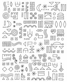 doodle. Put any of these together and it immediately makes your own patterns