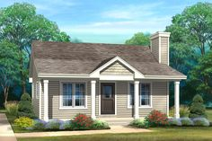 Plan Tiny House Plan with Cost-Sensitive Square Footprint - Nothing is easier – or less expensive to build – than a home with a square footprint. Cottage Floor Plans, Cottage Style House Plans, Cabin Floor Plans, Small House Plans, Cottage Homes, Small Floor Plans, Cottage Ideas, Cottage Chic, Cottage Design