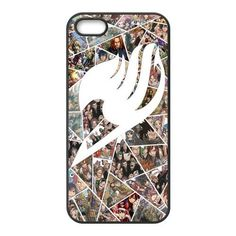 LeonardCustom Protective Hard Rubber Coated Cover Case for iPhone 5 / 5S , Fairy Tail Guild Logo my favorite out of the fairy tail ones