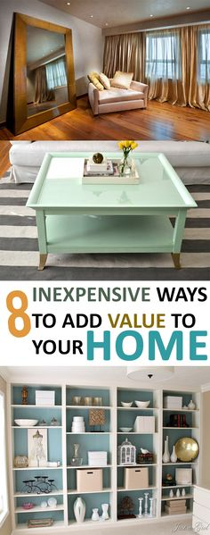 Inexpensive Ways to Add Value to Your Home – Use these simple updates to add value to your home.Use these simple updates to add value to your home. Home Upgrades, Home Renovation, Home Remodeling, Up House, Simple House, Home Improvement Projects, Home Organization, Home Values, Diy Home Decor