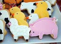 Farm Birthday Party Cookies - #YoYoBirthday