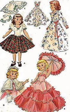 "Vtg 14/""  Mary Hoyer Doll Miss JUPITER Dress Pattern UNCUT"