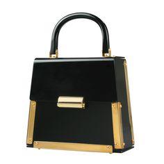 60's Black Lucite Handbag