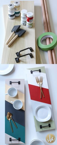 Create this DIY SERVING TRAY to match your style and home decor, with precut…