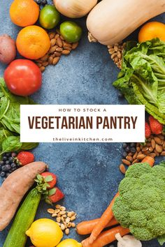 Stock your pantry with these vegetarian pantry staples and you'll always be prepared with a delicious meal! Great for beginners or planners alike. Vegetarian Chili Easy, Vegetarian Dinners, Vegan Vegetarian, Vegetarian Recipes, Kitchen Recipes, Kitchen Tips, Tasty, Yummy Food, Best Oatmeal