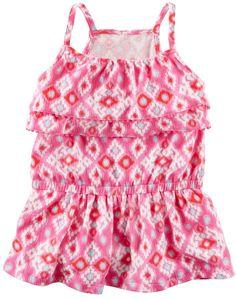 3bd3fa1cad101 Carter s Girls 4-8 Tiered Geometric Tank Top Baby Girl Shirts