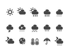 Weather icons 3 by icons Weather Icons, Custom Icons, Tattoo Ideas