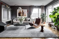 Sehlstedtsgatan 7 a stylish penthouse on two floors in Stockholm Sweden - CAANdesign