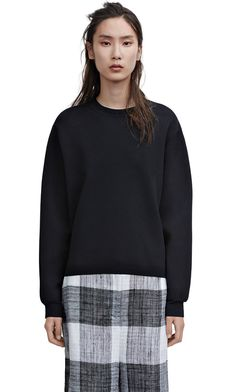 Acne Studios Misty black is a classic pullover sweater in a refined stitch.