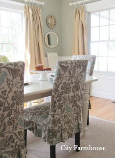 Dining Room Reveal - City Farmhouse drapes ballard design linen in hemp