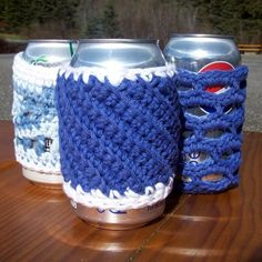 Free crocheting pattern: Soda or Beer Can Cozies