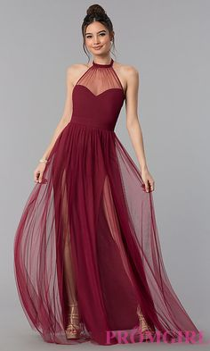 best=Illusion High Neck Halter Long Prom Dress , A long dress makes an elegant statement at any formal event whether it is prom, a formal dance, or wedding. Prom Dresses Under 200, Grad Dresses, Formal Dresses, Halter Dress Formal, Halter Dresses, Sweetheart Prom Dress, Tulle Prom Dress, Party Dress, Prom Gowns