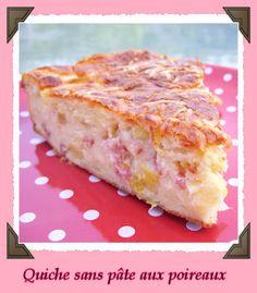 Quiche sans pate aux poireaux PP) - Best Pins Live Strudel, Ww Recipes, Cooking Recipes, Zucchini, Quiche Lorraine, Good Food, Yummy Food, My Best Recipe, Sandwiches
