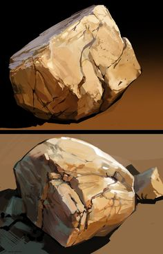 Game art 329044316500284164 - Rock Studies 2 by zombat on deviantART Source by jaycryu Digital Painting Tutorials, Digital Art Tutorial, Art Tutorials, Digital Paintings, Landscape Drawings, Landscape Art, Landscape Paintings, Landscapes, Drawing Rocks