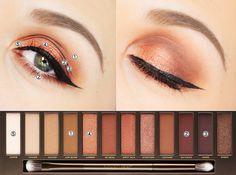 tutoriel maquillage naked heat